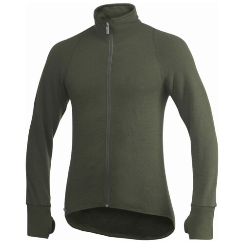 Woolpower Full ZIP Jacket 400g oliv Größe XS