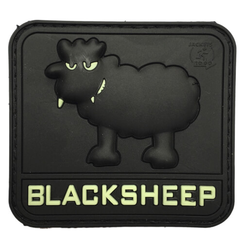 JTG Rubber Patch BlackSheep glow in the dark