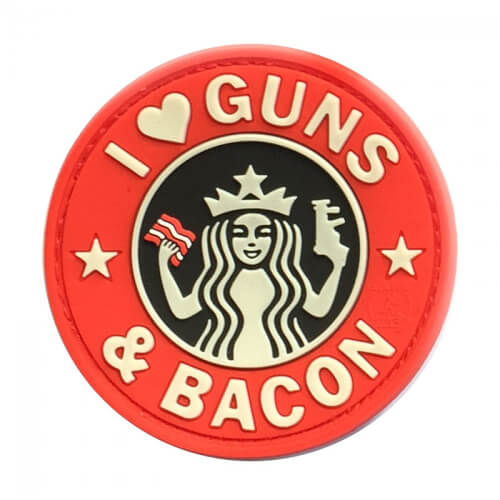 JTG Guns and Bacon PVC Patch red