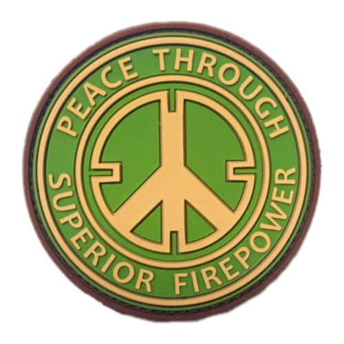 "JTG 3D Rubber Patch ""Peace Through Superior Firepower"" multicam"