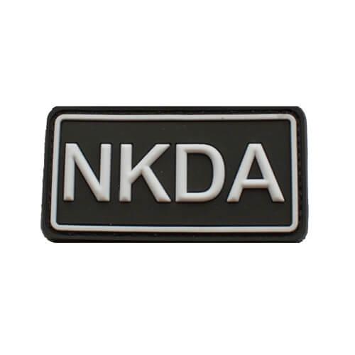 Rubberpatch NKDA Schwarz-Weiß