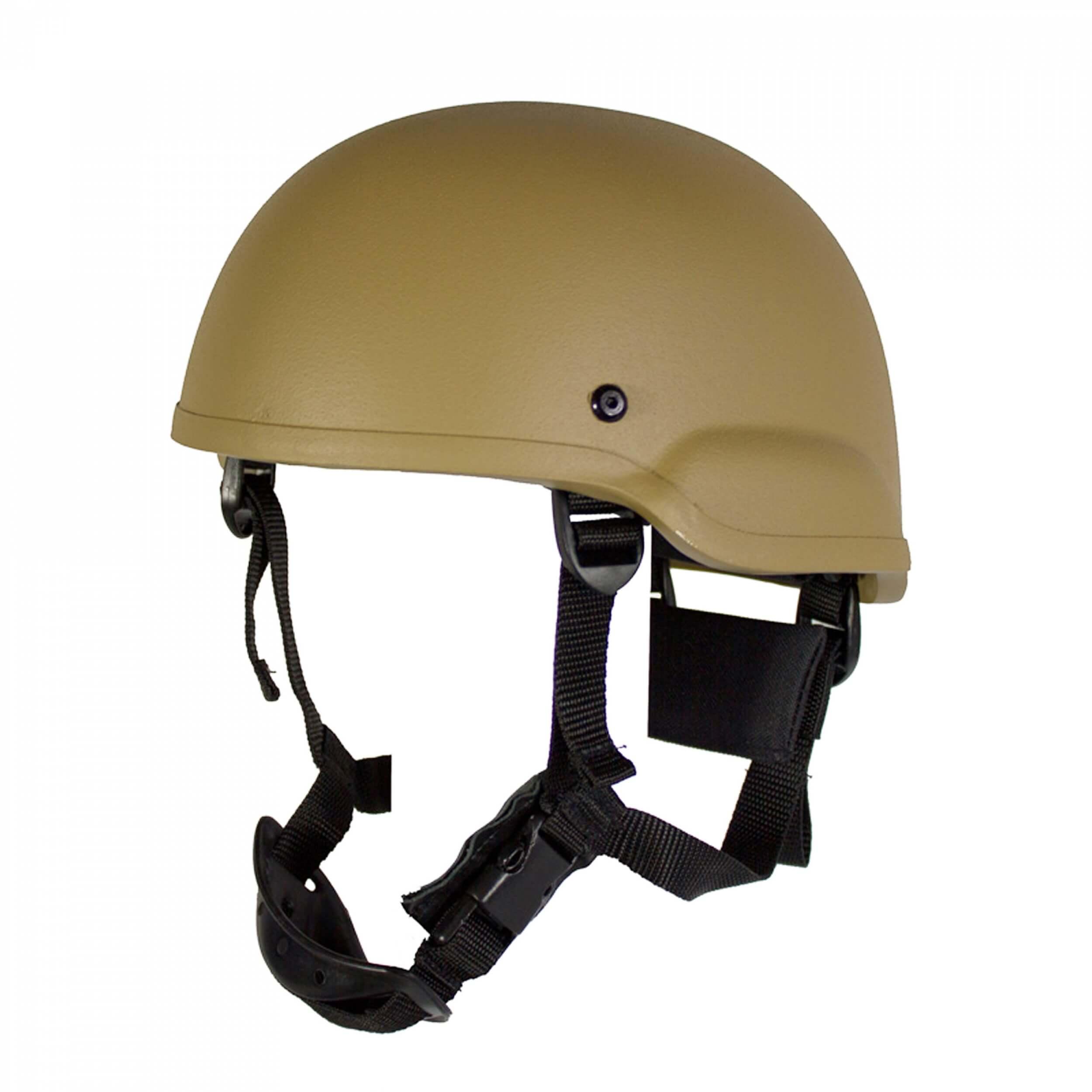 HCS Gunfighter Helm mit Pads Khaki