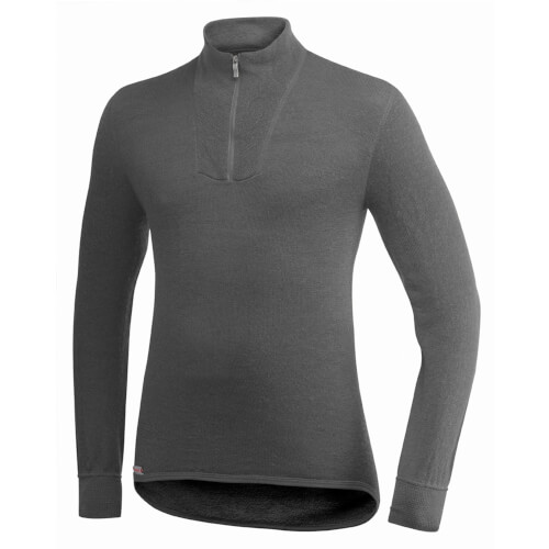 Woolpower Zip Turtleneck 200 grau