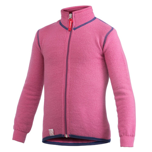 Woolpower Kids Full ZIP Jacket 400g Pink