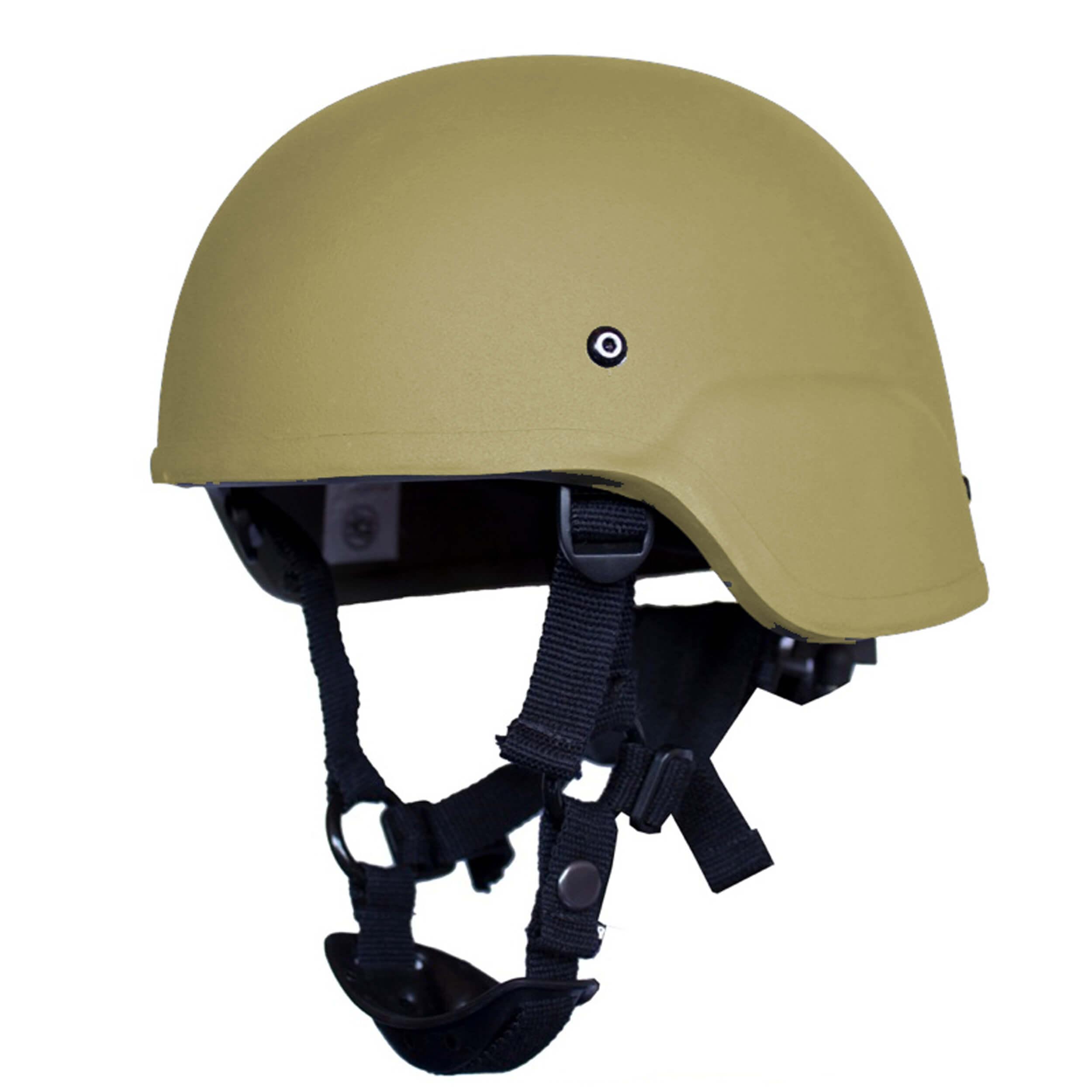 HCS ACH Helm mit Pads Khaki