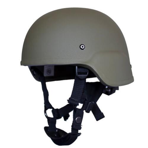 HCS ACH Helm mit Pads oliv