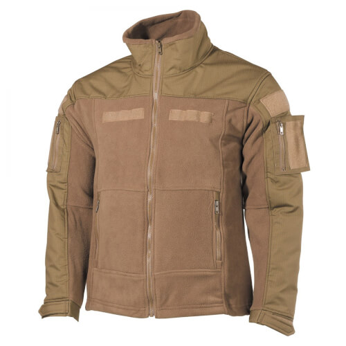 MFH Fleece-Jacke, Combat, Coyote Tan