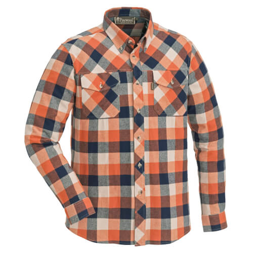 Pinewood Shirt Lumbo Navy/Terracotta