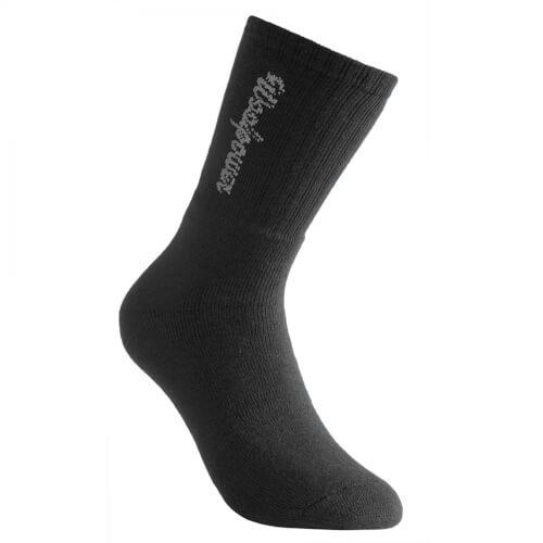 Woolpower Socke 400g mit Logo schwarz
