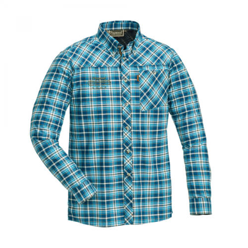 Pinewood Shirt Caribou Slim Blue