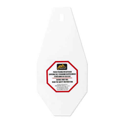 Helikon-Tex SRT Mini Alpha Target - Hardox 600 Steel - White