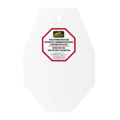 Helikon-Tex SRT Small Alpha Target - Hardox 600 Steel - White