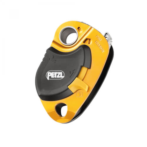 Petzl Pro Traxion Seilrolle gelb