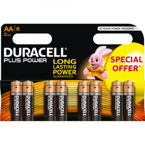 DURACELL Plus Power 1.5 V AA Batterie x8