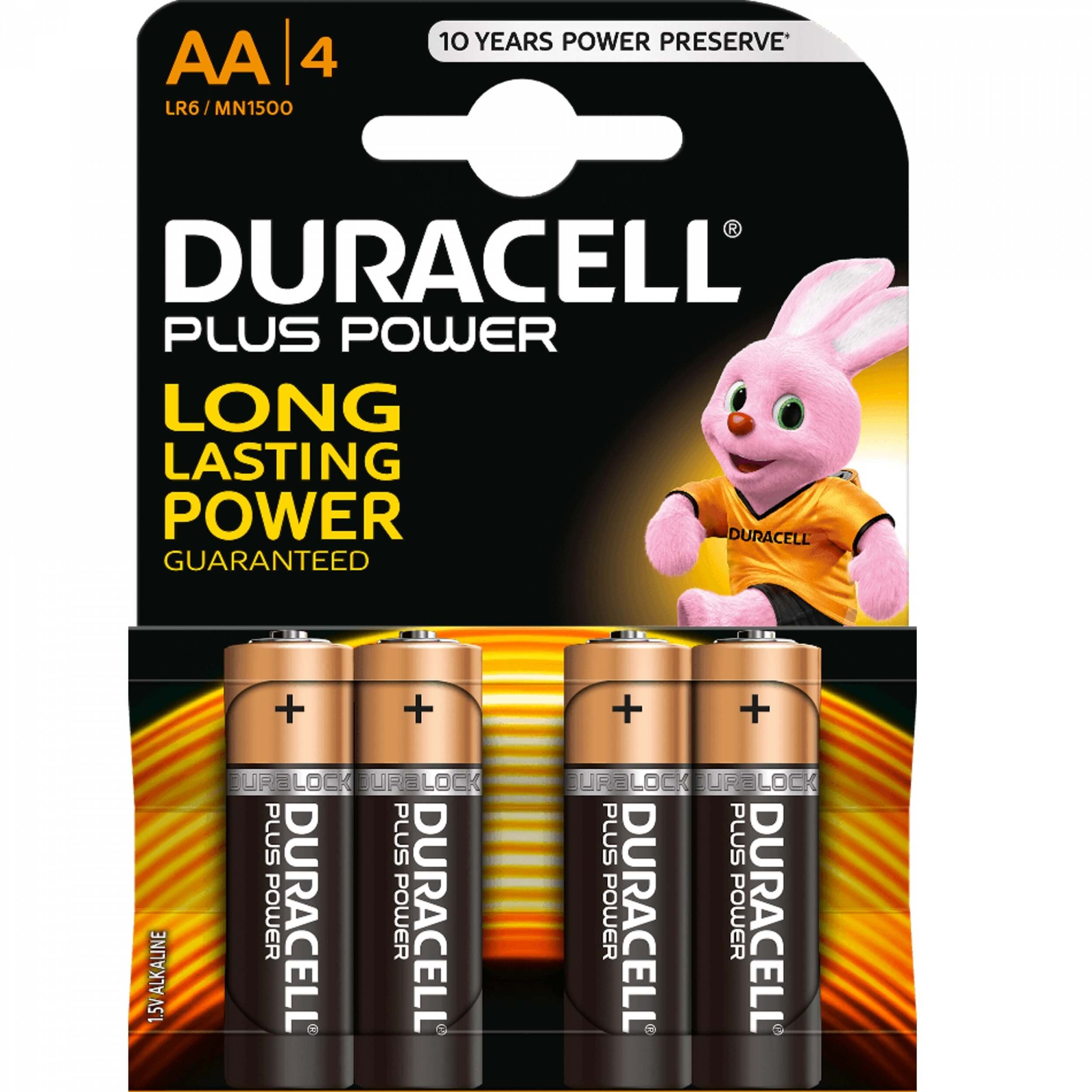 DURACELL Plus Power 1.5 V AA Batterie x4