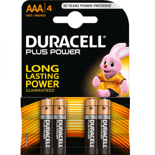 DURACELL Plus Power 1.5 V AAA Batterie x4
