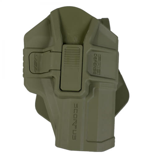 FAB Defense H&K P8 USP SR Level 2 Scorpus Swivel Retention Holster olive drab