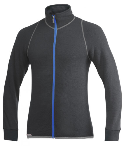 Woolpower Full ZIP Jacket 400g grey/turquoise