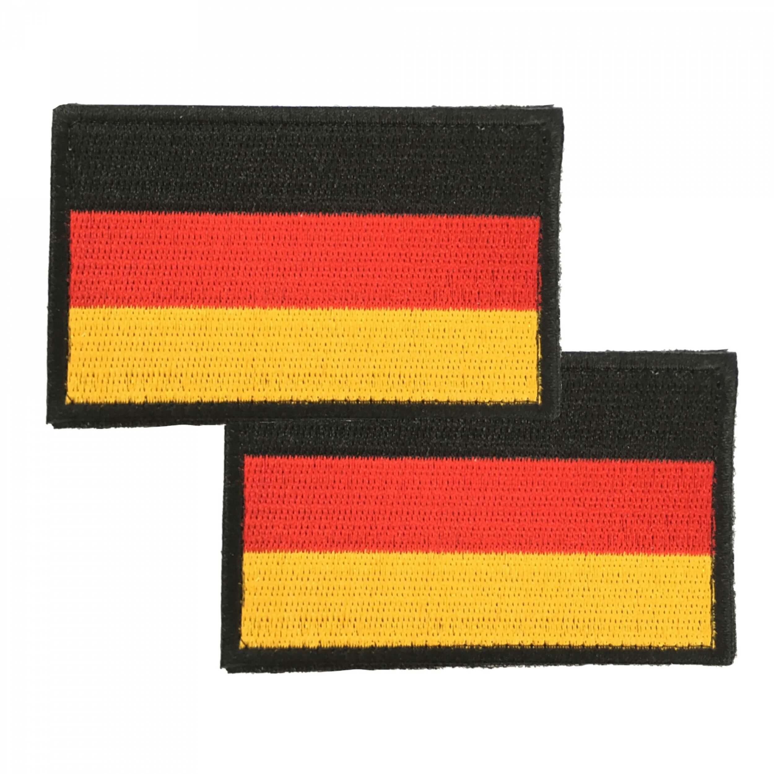 Deutschland Flagge Stoff-Patch 2 Stück im Set
