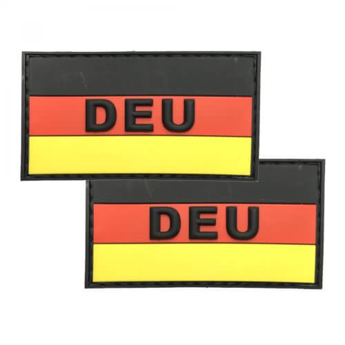 PVC Patch mit DEU Aufschrift 2er Set