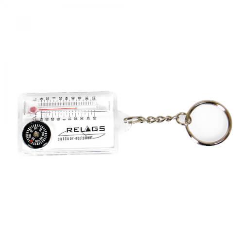 Relags Schlüsselanhänger Kompass Thermometer