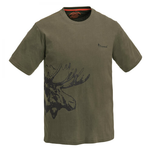 Pinewood Moose T-Shirt Kinder Khakigreen