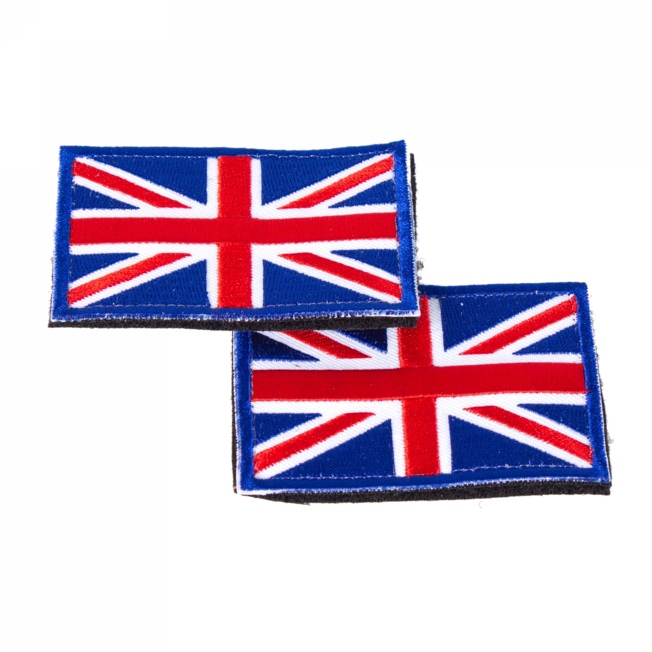England United Kingdom Flagge Patch 8 x 5 cm 2 Stück im Set