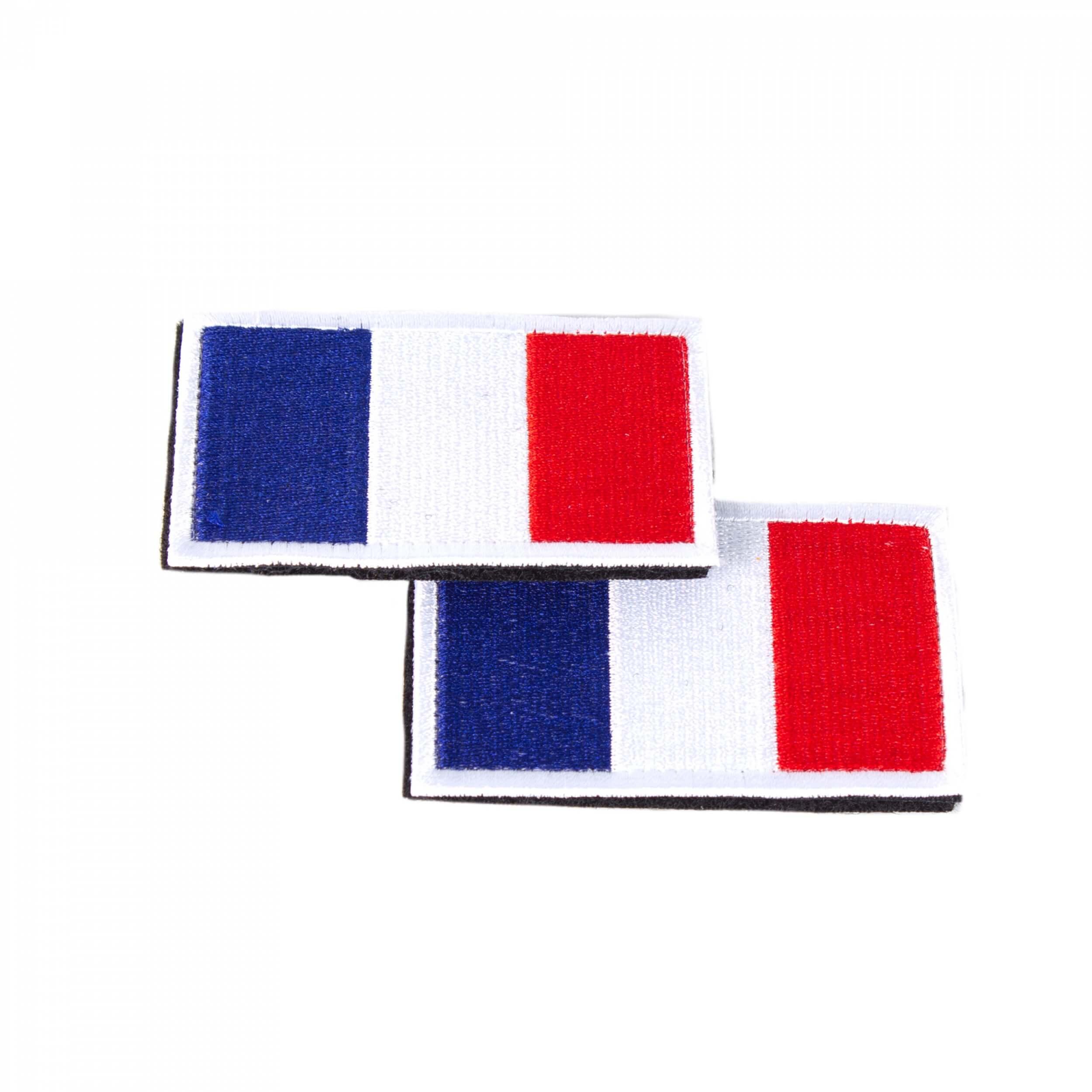 Französische Flagge Patch 8 x 5 cm 2 Stück im Set