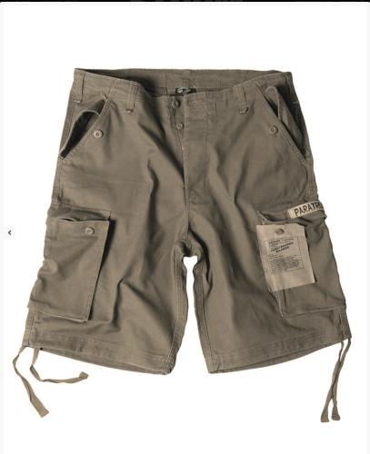 Mil-Tec Paratrooper Shorts Prewash oliv