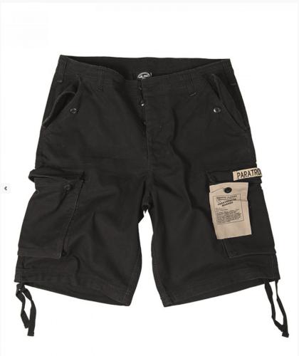 Mil-Tec Paratrooper Shorts Prewash schwarz