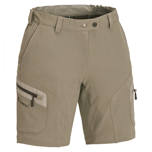 Pinewood Wildmark Stretch Shorts Damen light khaki