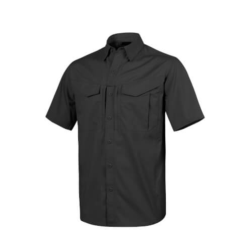Helikon-Tex Defender Mk2 Shirt Short Sleeve - PolyCotten Ripstop black