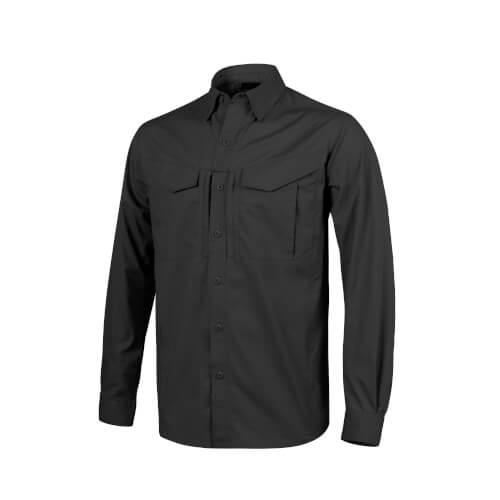 Helikon-Tex Defender Mk2 Shirt Long Sleeve - PolyCotton Ripstop black