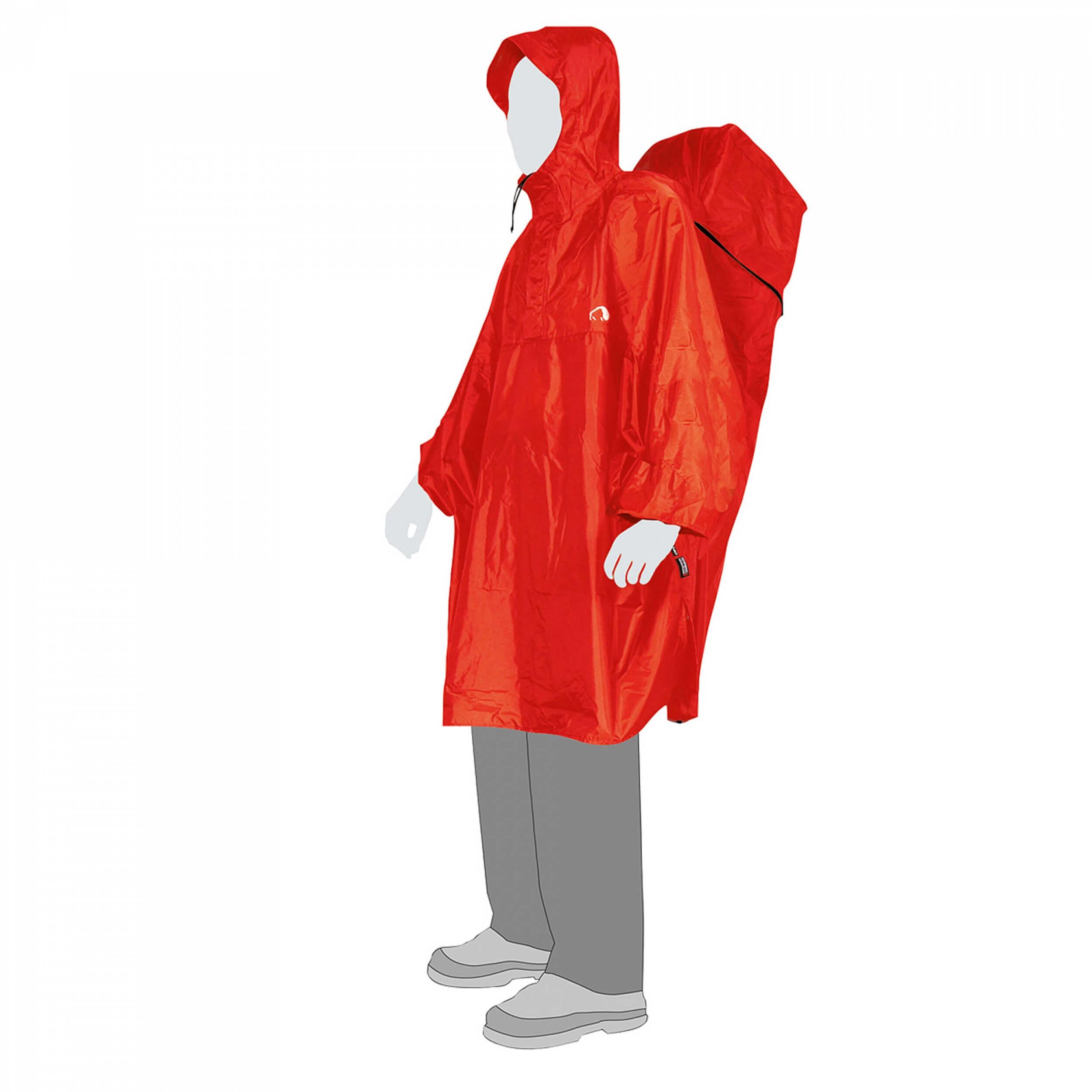 Tatonka Regenschutz Cape red