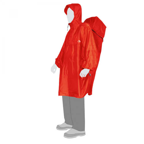 Tatonka Regenschutz Cape Men rot