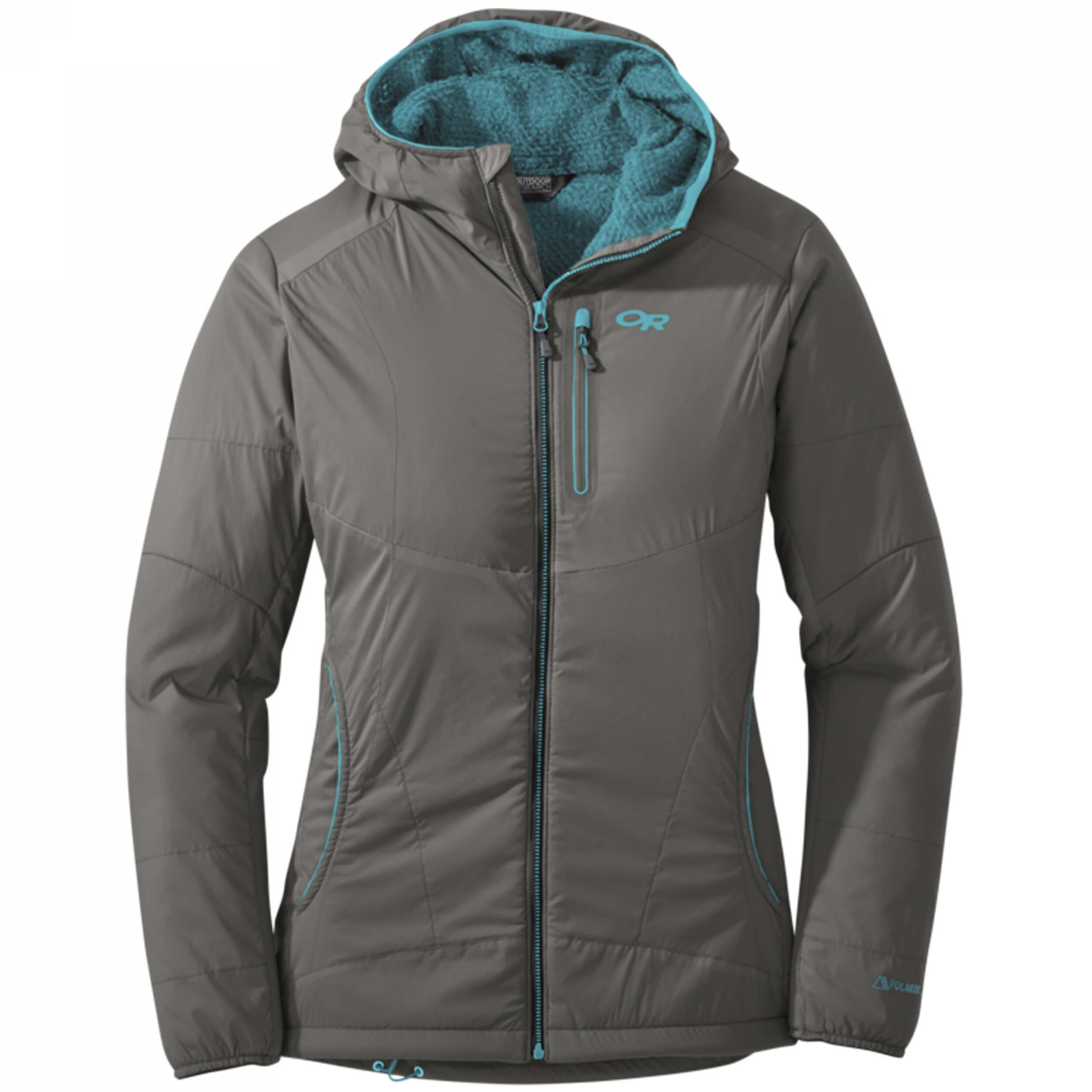 Outdoor Research Women`s Ascendant Hoody pewter/typhoon