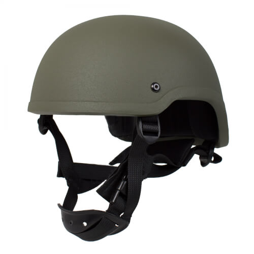 HCS Special Forces Helm mit Pads Oliv