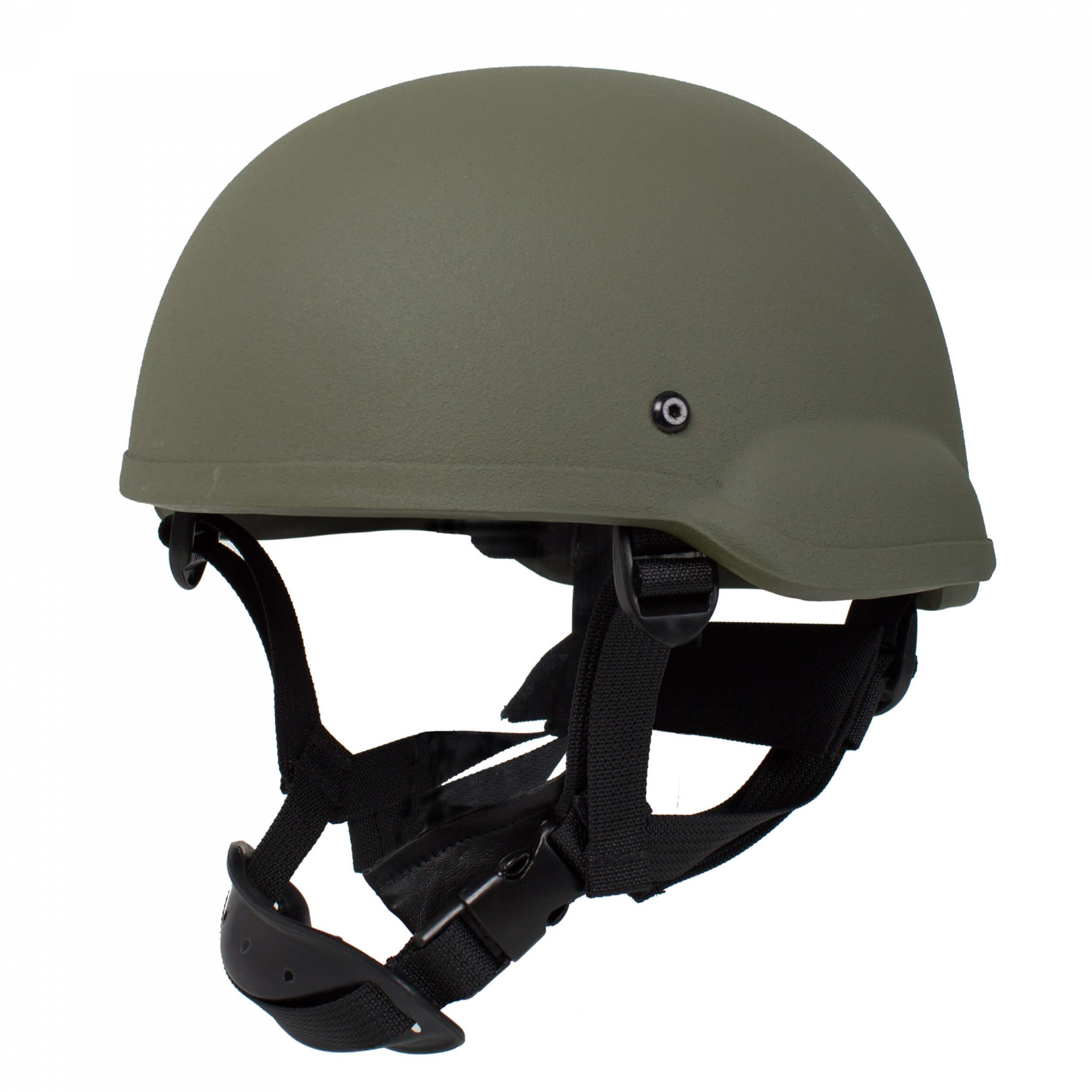 HCS Gunfighter Helm mit Pads oliv