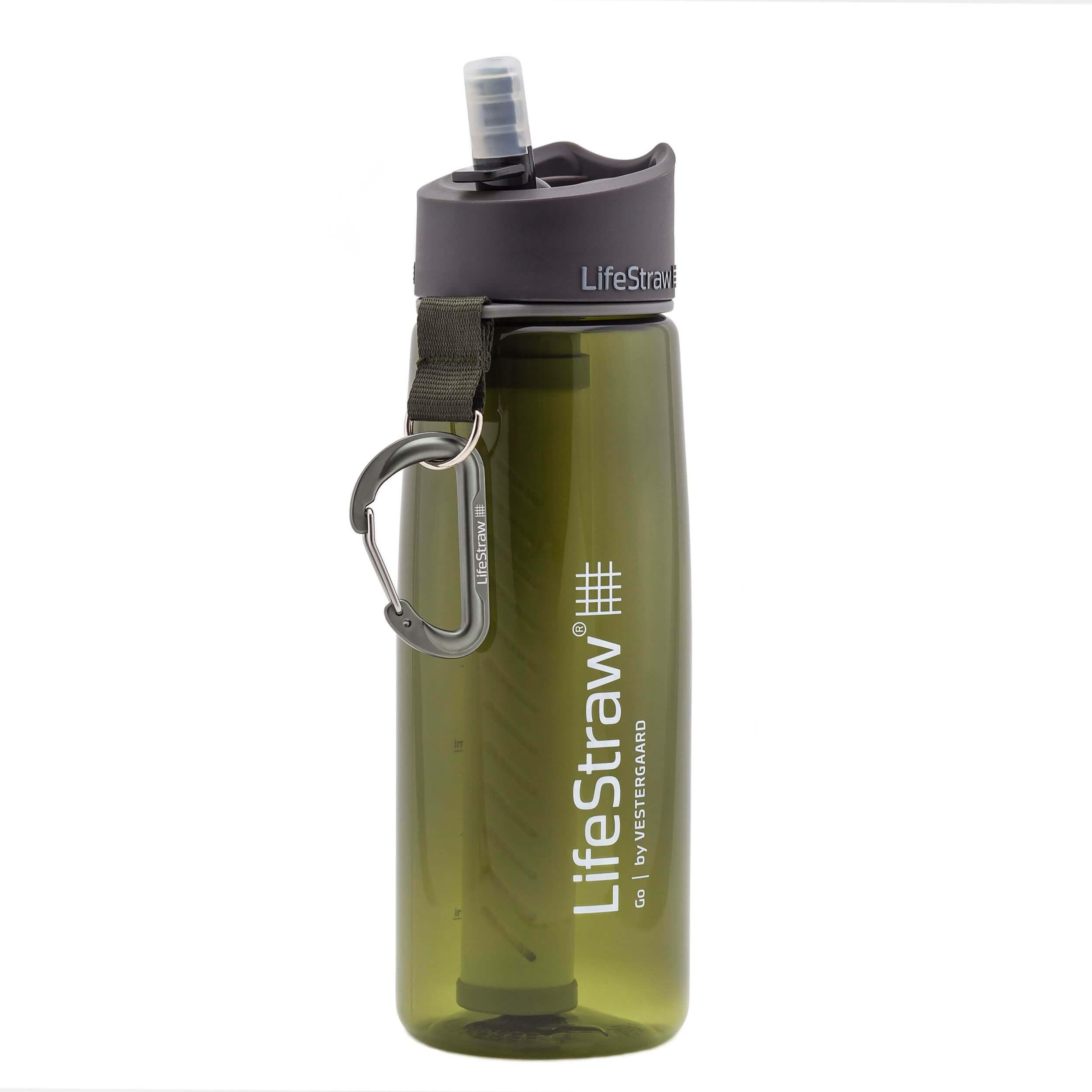 LifeStraw Go 2 Stage Trinkflasche 0,64 Liter grün