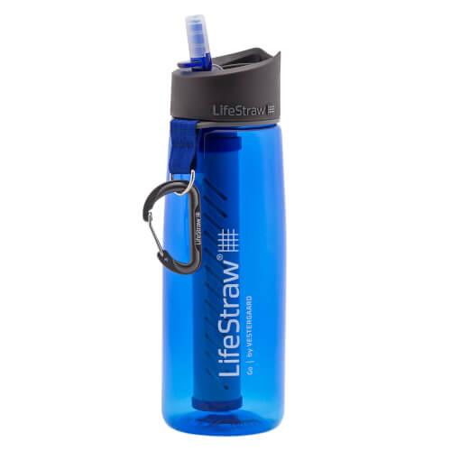 LifeStraw Go 2 Stage Trinkflasche 0,64 Liter blau