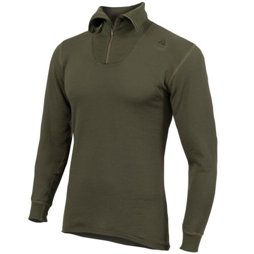 Aclima Hotwool Polo w.Zip 230 G. Unisex olive night
