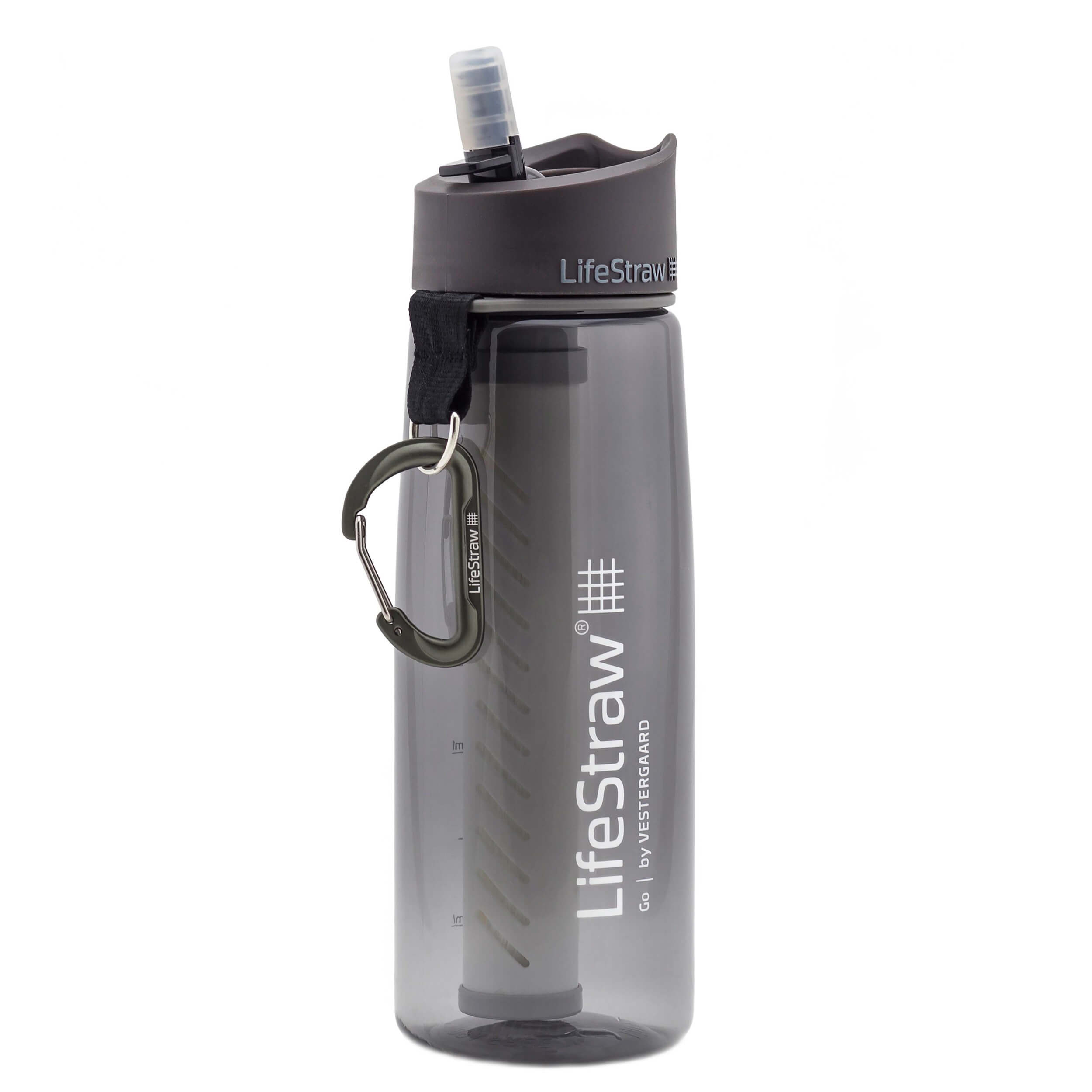 LifeStraw Go 2 Stage Trinkflasche 0,64 Liter grau