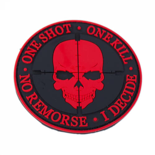 One Shot One Kill Patch PVC rund Rot