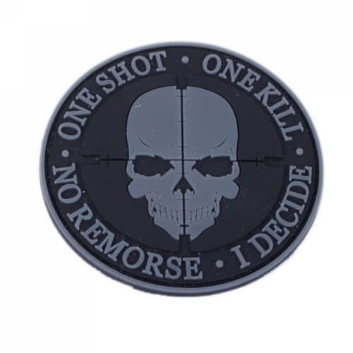 One Shot One Kill Patch PVC grau