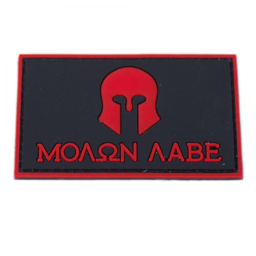 Molon Labe Patch PVC in 8 x 5 cm rot