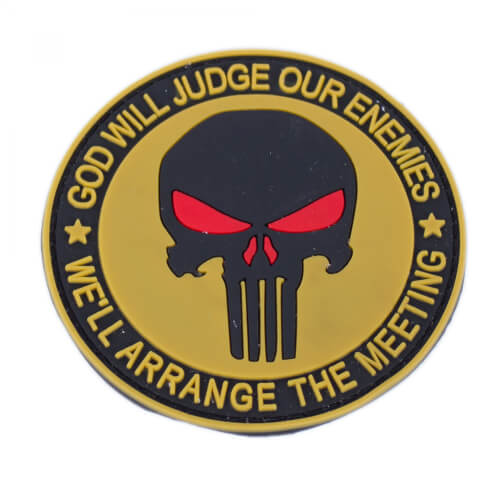 Punisher Totenkopf Patch PVC tan