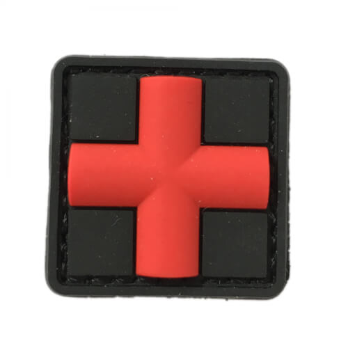 HCS Medic Patch rotes Kreuz 25x25mm