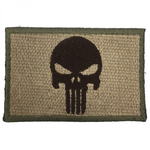Punisher Totenkopf Patch tan