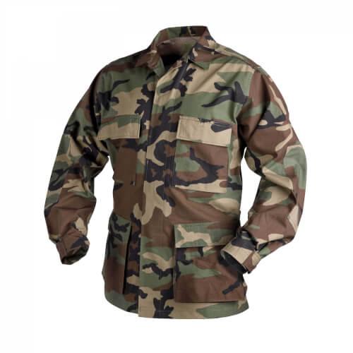 Helikon-Tex BDU Shirt - PolyCotton Ripstop us woodland