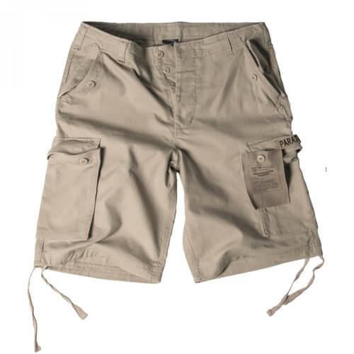 Mil-Tec Paratrooper Shorts Prewash khaki